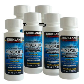 Minoxidil Kirkland 5% Para Queda de Cabelo - 6 frascos