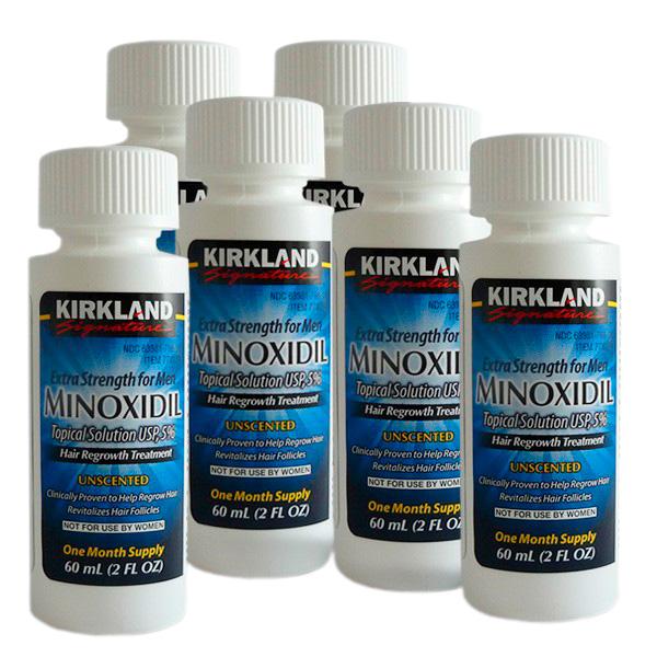 Minoxidil Kirkland 5% - Tratamento para 6 Meses