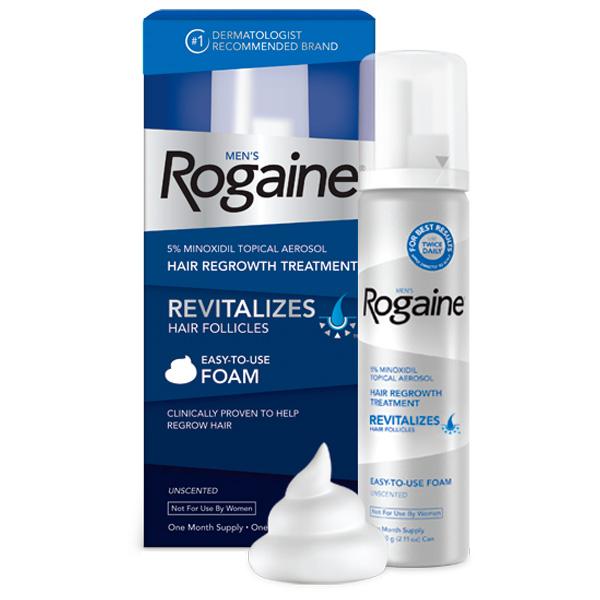 Minoxidil Rogaine Foam 5% - Tratamento para 1 Mês