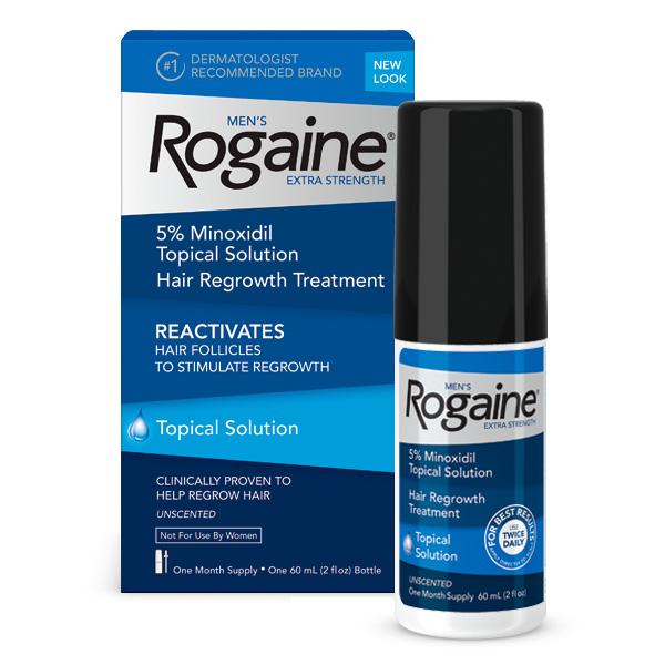 Minoxidil Rogaine 5% - Tratamento para 1 Mês