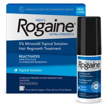 Minoxidil Rogaine 5% Para Homens Líquido - 3 frascos