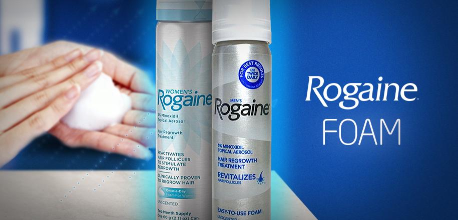 Rogaine Foam é a Espuma que Elimina a Queda de Cabelo