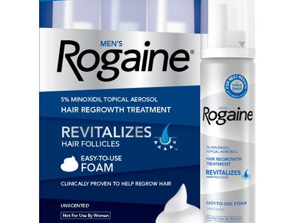 Minoxidil Rogaine Foam 5% Para Homens – 3 frascos