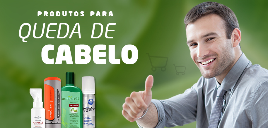 Reforce o combate com produtos para queda de cabelo