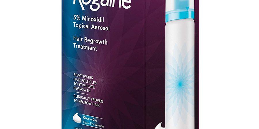 Minoxidil Rogaine Women's Foam 5% Feminino – 2 frascos