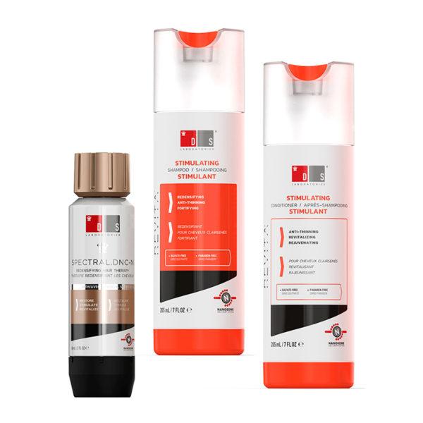 Kit Revita Shampoo, Condicionador Revita e Spectral DNC-N DS Laboratories