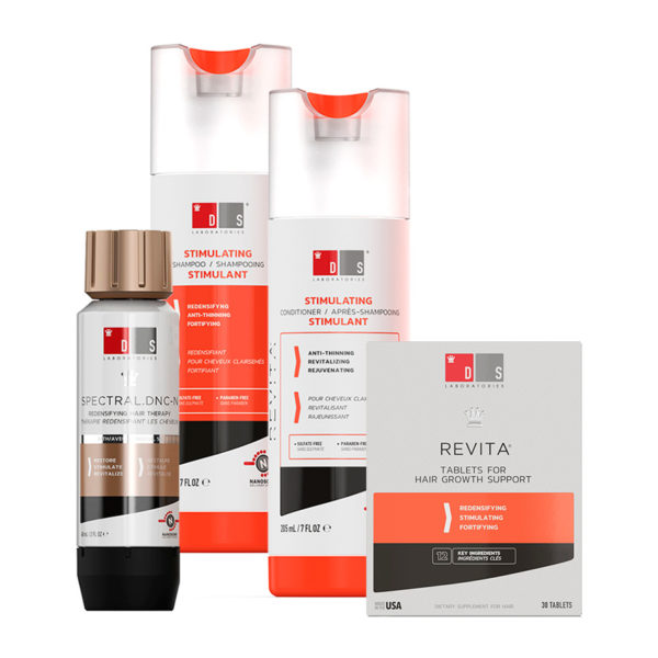 Kit Revita Shampoo e Condicionador, Revita Tablets e Spectral DNC-N